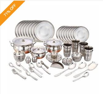 Gifting Special - 121 Pcs Stainless Steel Dinner Set