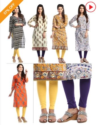 Urban Style Combo offers - Pack of 5 Kurta Collection + 2 Leggings